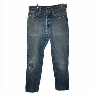 American Apparel Button Fly Straight Jeans Slouchy